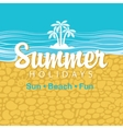 Travel banner summer holidays vector image vector image