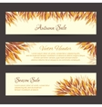Autumn sale headers template vector image