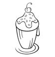 dessert symbol vector image