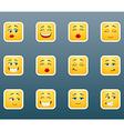 Emoticon smile stickers set vector image