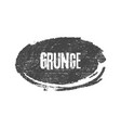 grunge black ellipse brush shape vector image