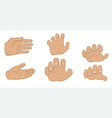 Hands in different angles vector image