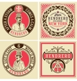 Retro designs set vector image