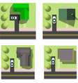 set of simple houses vector image