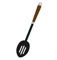 Slotted spoon vector image
