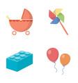 stroller windmill lego balloonstoys set vector image