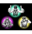 Three DJs vector image
