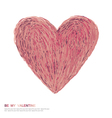 valentines day symbol abstract heart symbol vector image