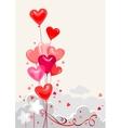Festive heart shape balloons vector image