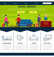 flat hotel web page template vector image