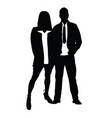 couple silhouette in love romance vector image vector image