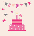 cake with butterflies vector image