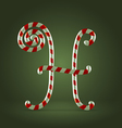 Candy cane abc h vector