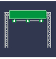 Blank green traffic road sign on black vector image