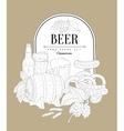 Beer Themed Vintage Sketch vector image