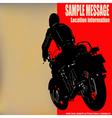 Biker background vector image
