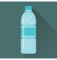 Bottle of Fresh Sparkling Water Flat Icon vector image