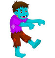cartoon zombie walking for you design vector image