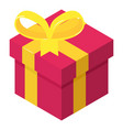 christmas gift icon isometric 3d style vector image