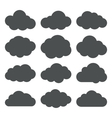 Cloud Shapes collection Set of Flat Cloud Icons vector image
