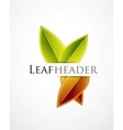 Fall leaf green background vector image