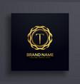 letter t luxury logo concept design vector image