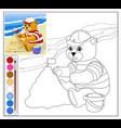 teddy bear at the beach vector image