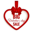 Valentines day heart sale EPS 10 vector image