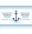 Wedding Marine Invitation Card vector image