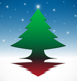 Abstract christmas tree background vector image