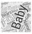baby christmas gift Word Cloud Concept vector image