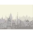 Foggy city skyline vector image vector image