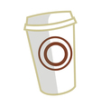A cup is placed vector image