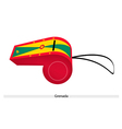 A Red Yellow and Green Whistle of Grenada vector image
