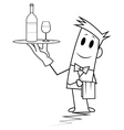 Square guy - waiter vector image vector image