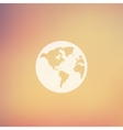 Globe in flat style icon vector image vector image