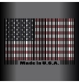 Abstract USA flag Independence Day vector image vector image