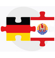 Germany and French Polynesia Flags vector image