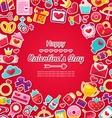 Celebration Postcard for Valentine Day vector image