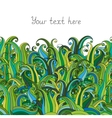 Doodle grass seamless border pattern May be used vector image