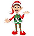 happy Christmas elf vector image vector image