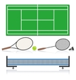 A set of sports equipment vector image