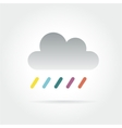 Abstract colored cloud icon isolated on white vector image