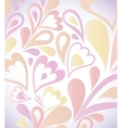 Abstract colorful background with floral vector image