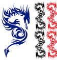 Asian tattoo dragon vector image