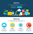 big data website design vector image