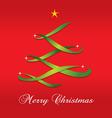 Christmas Tree Ribbon vector image