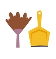 Dustpan icon flat modern design scoop for vector image