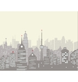 Foggy city skyline vector image