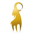 goat animal symbol vector image